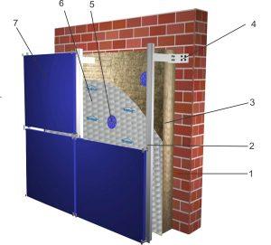Защитная строительная мембрана в вентфасаде